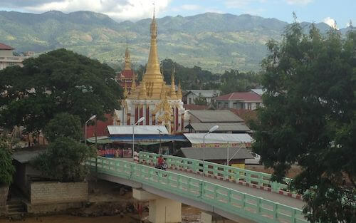 View toward Nyaung Shwe from the hotel