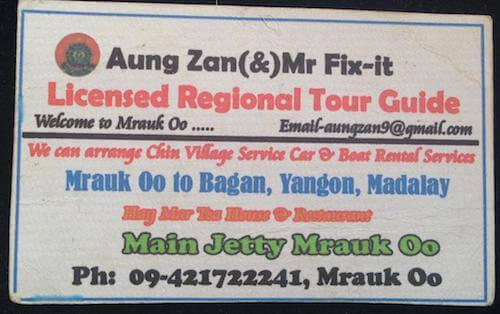 Mrauk U Guide Chin Vllage