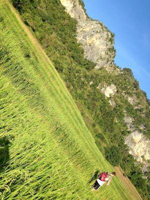 Kalaw trek scenery Karst Cliffs